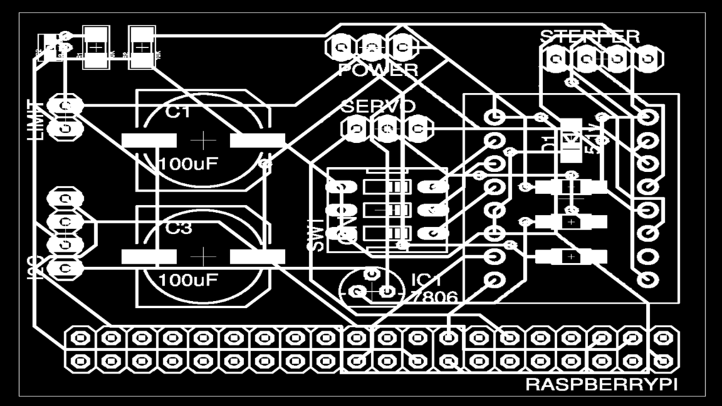 Inverted PCB for 3D printing